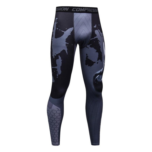 Skinny Sweatpants for Men Compression Pants Men Fashion Leggings Jogger Men 3D Fitness Pants Spiderman Flash Elastic Trousers
