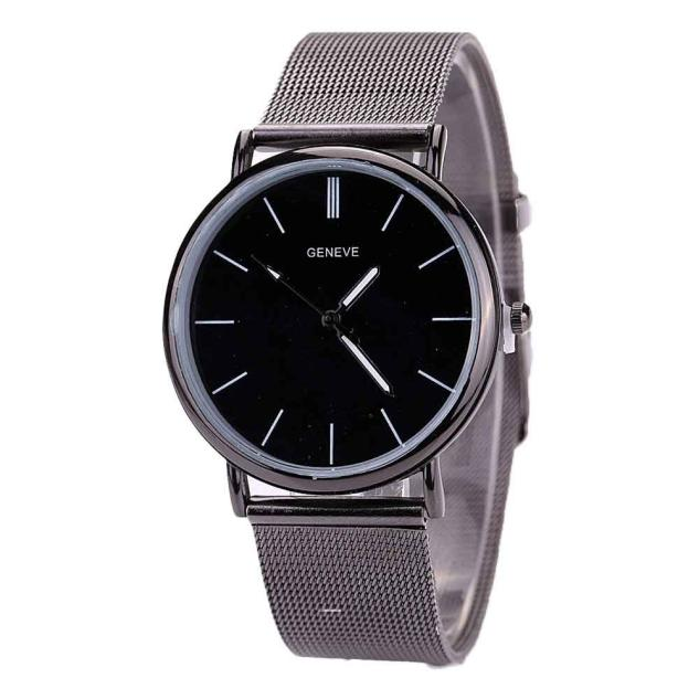Top Brand Men Watches Fashion Stainless Steel Analog Quartz Wrist Watch Lady Luxury Mesh Band Bracelet Watch Relogio Feminino