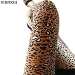 Autumn Women Trousers Sexy 8 Styles Fashion Lady High Elasticity Skinny Print Pants Leopard Print Pattern Clothing Cotton