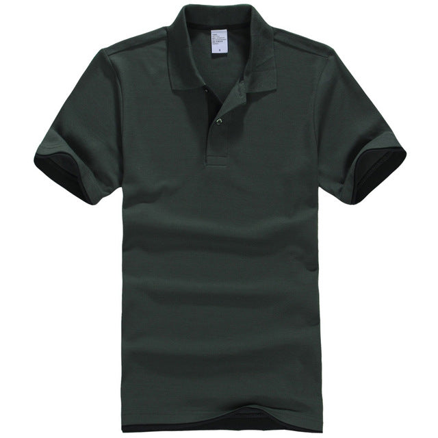 Men's Polo Breathable Cotton Short Sleeve Shirt