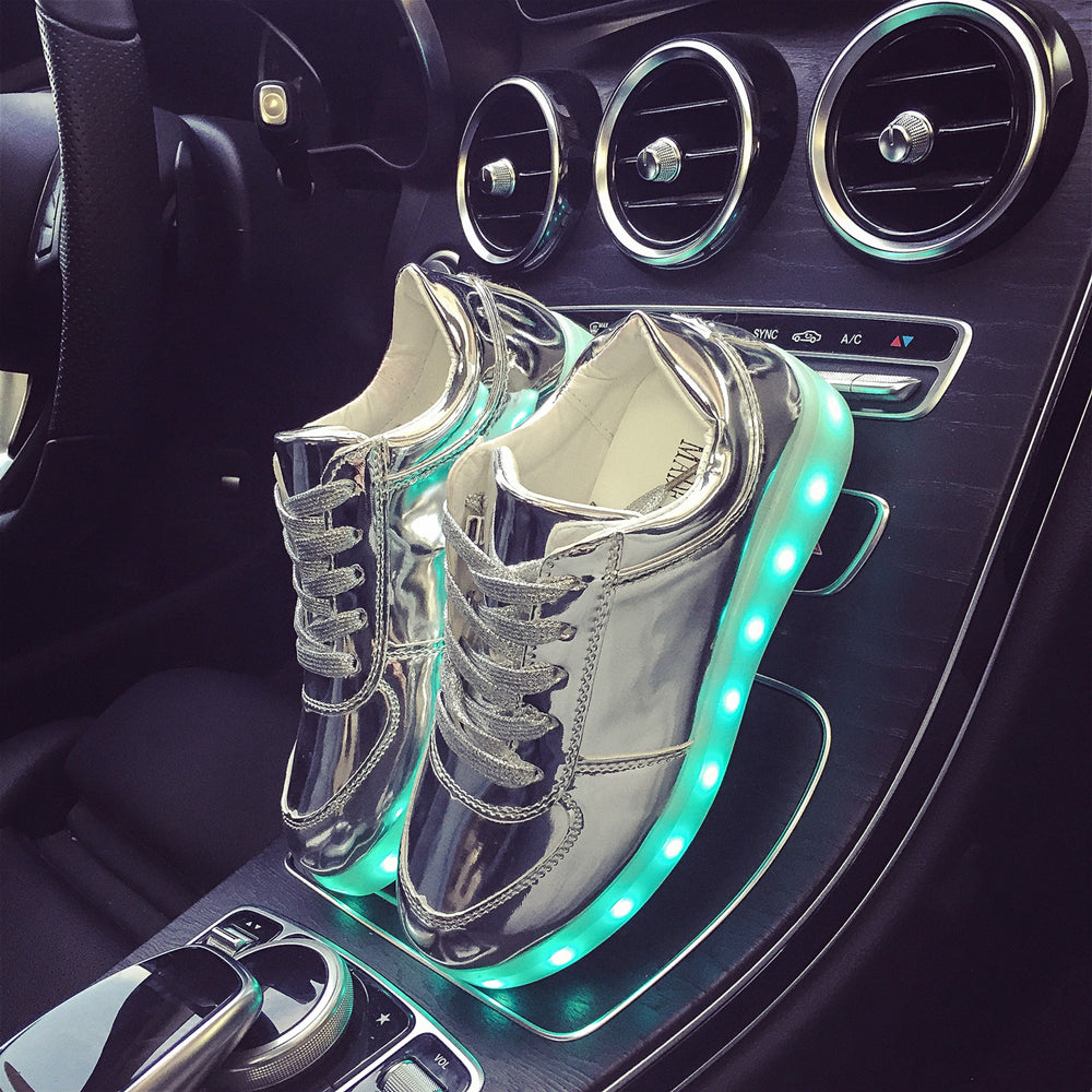 7 Colors Luminous Sneakers Glowing Boys LED Shoes Girls Child LED Slippers Light Up Shoes for Men Women