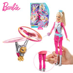 Original Barbie Toys Barbie Doll Star Light Adventure Barbie Flying Pet Cat Set Action Figure Barbie Model Toys Gift for Girls