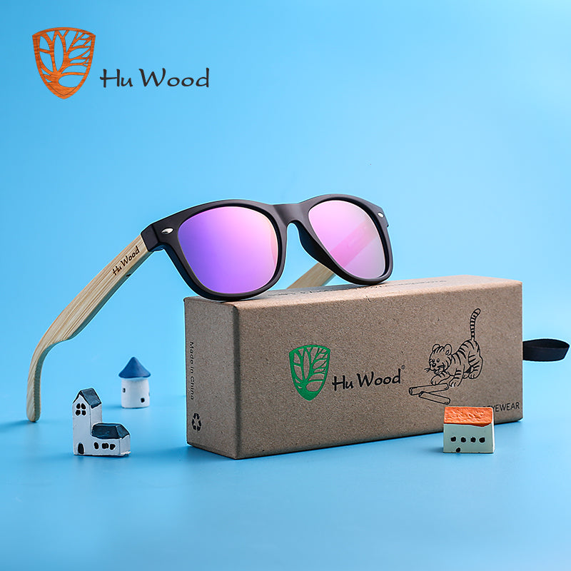 HU WOOD Brand Design Sunglasses For Children