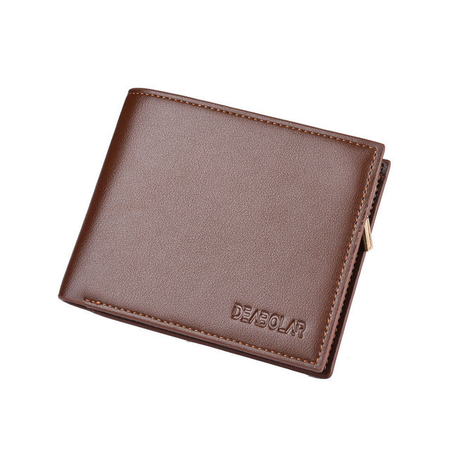 New Men's Wallet Coin Short Credit Card Holder with Pocket Zipper Wallet fashion Top level PU And Leather Wallet