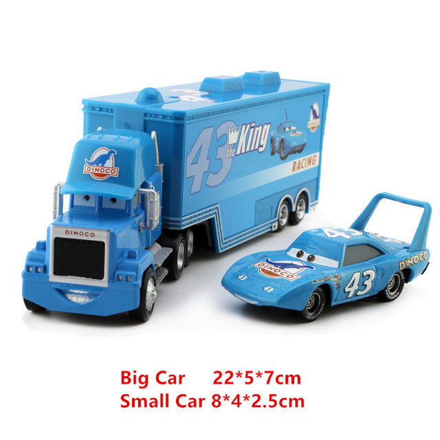 857c7871e3bbb Disney Pixar Cars 21 Styles Mack Truck +Small Car McQueen 1:55 Diecast  Metal Alloy And Plastic Modle Car Toys Gifts For Children