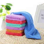 Super Absorbent Quick-drying Square Towel 25x25CM Soft Handkerchief For Baby and Bath (2pcs/lot)
