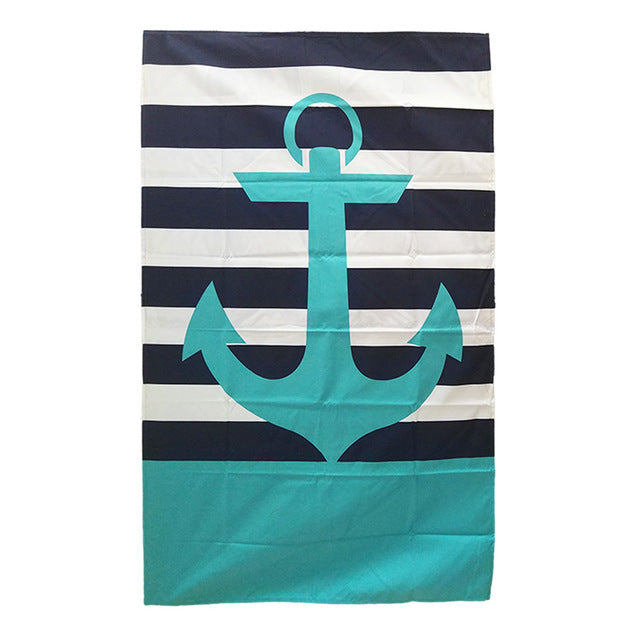 BAD PHOTOS Beach towels Microfiber Sport Swiming Blanket Printed Striped Anchor Quick-drying Towel  Camping Swimwear Plaid bath Towels