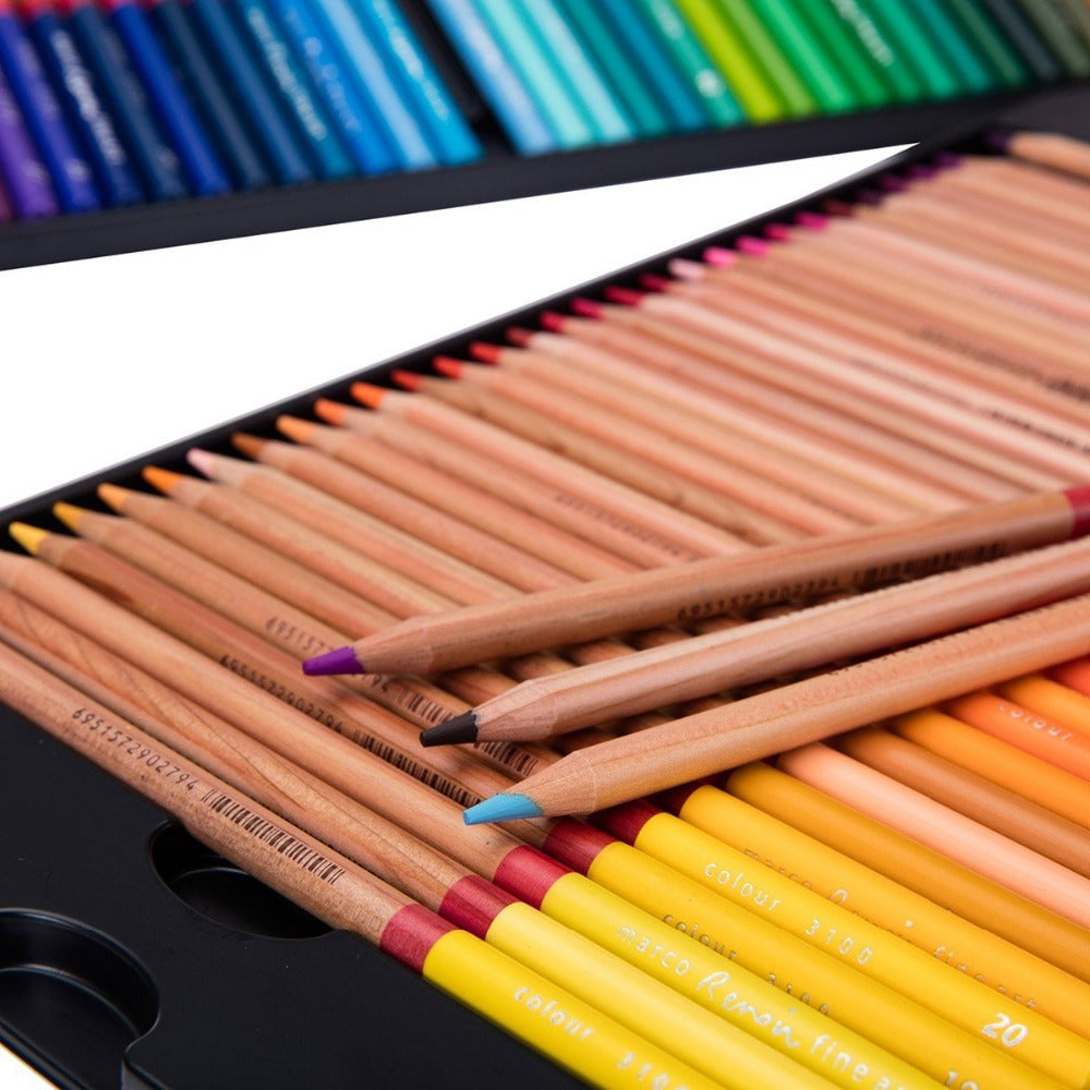 100 Colors Pencils Artist Painting Oil