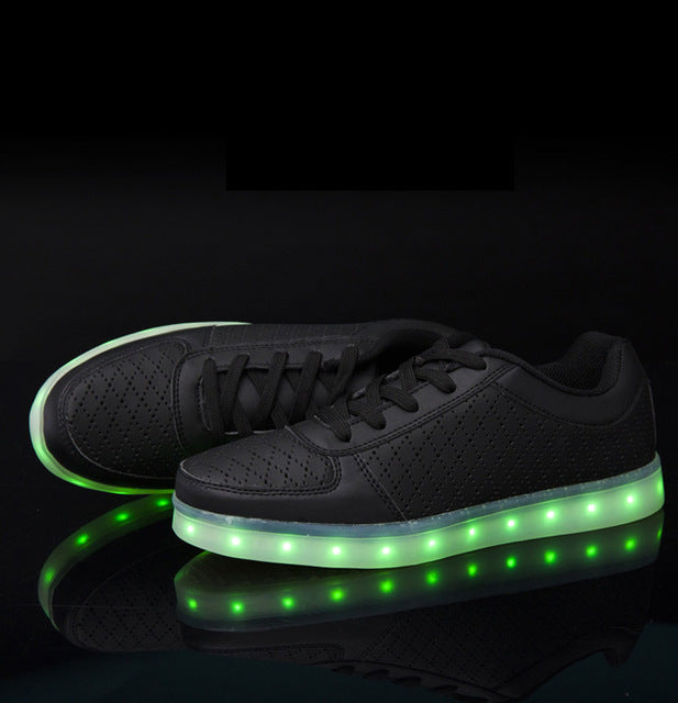 Led light sneaker shoes led luminous shoes women woman led for adults casual lace shoes
