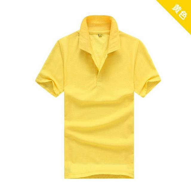 summer style Men solid color polo shirt Clothing Tops short sleeve for women