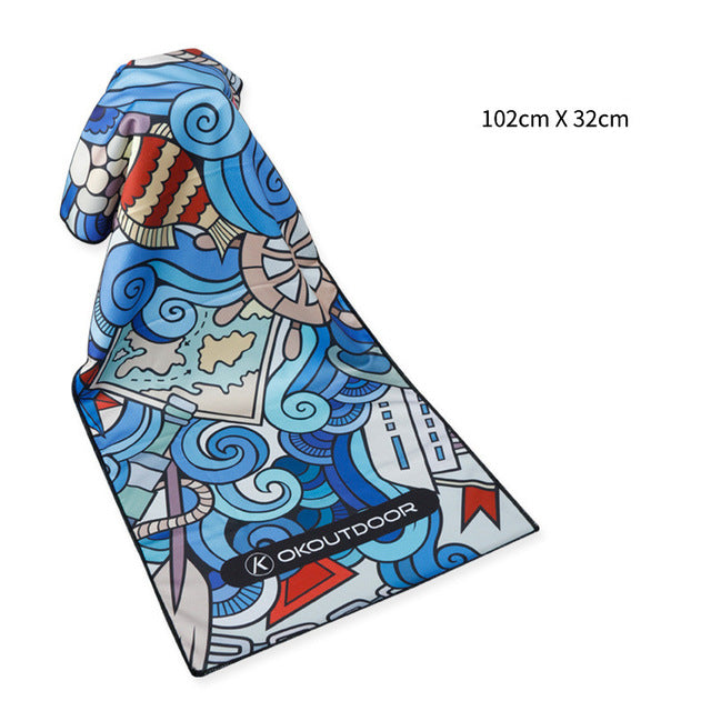 Colorful Outdoor Sunblock Sports Towels