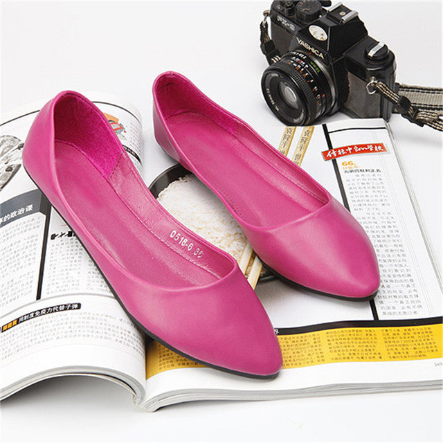 TIMETANG Ballerina Flats Pointed Toe Bowtie Sweet Flat Shoes Women Slip On Ballet Flats Woman Female Solid Casual Shoes