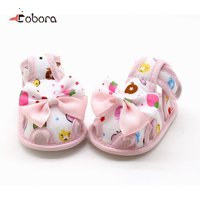 Bow Autumn Brand Cartoon Toddler First Baby Boy Girl Shoes Sandals Sneakers Moccasins Boots Sapato Menina