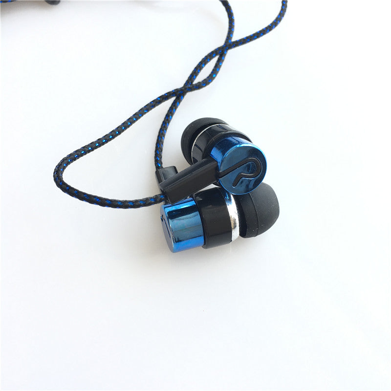 Stereo Noise Cancelling Fiber Clothed Wire MP3 Headphones