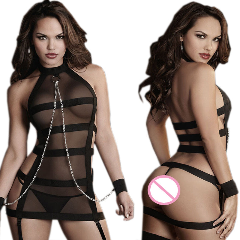 Women   Lingerie Lace Handcuff Lingerie Shackle Bundled Baby Doll   Costumes Exotic Apparel Products Chemise