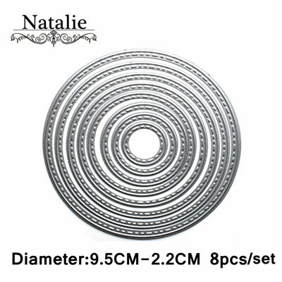 Heart Rectangle Circle Metal Cutting Dies Set