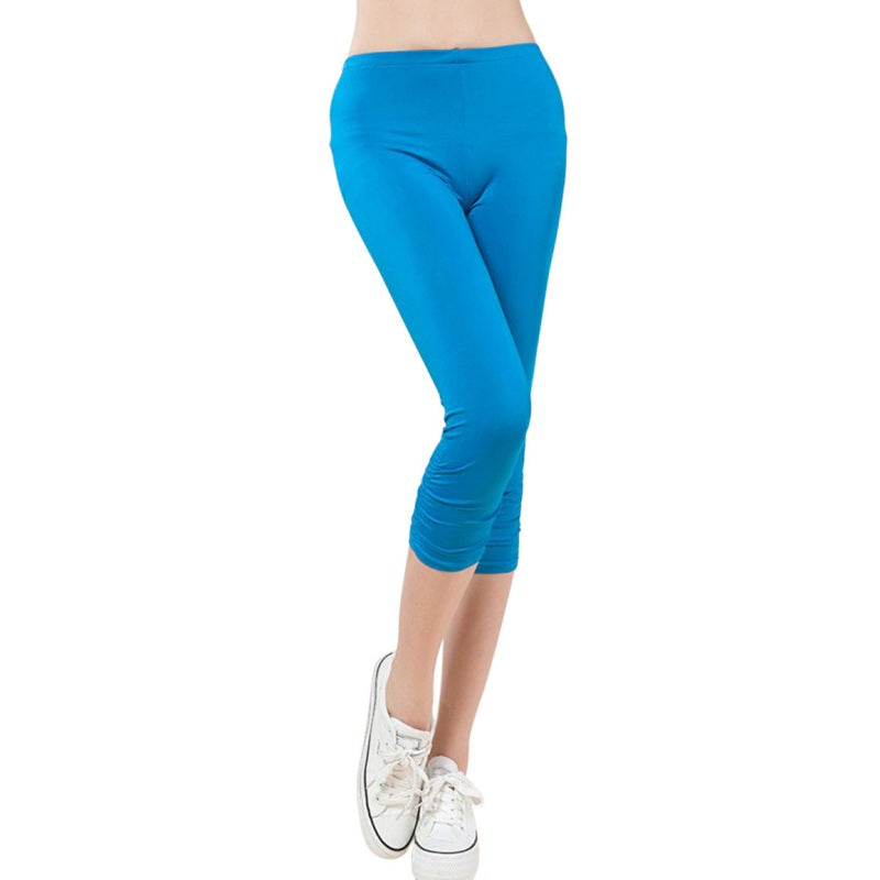 Sexy Casual Women Calf-Length Skinny Leggings Large Size L-4XL High Elastic Lady Fashion Capris & Pants Bottom Plus Size