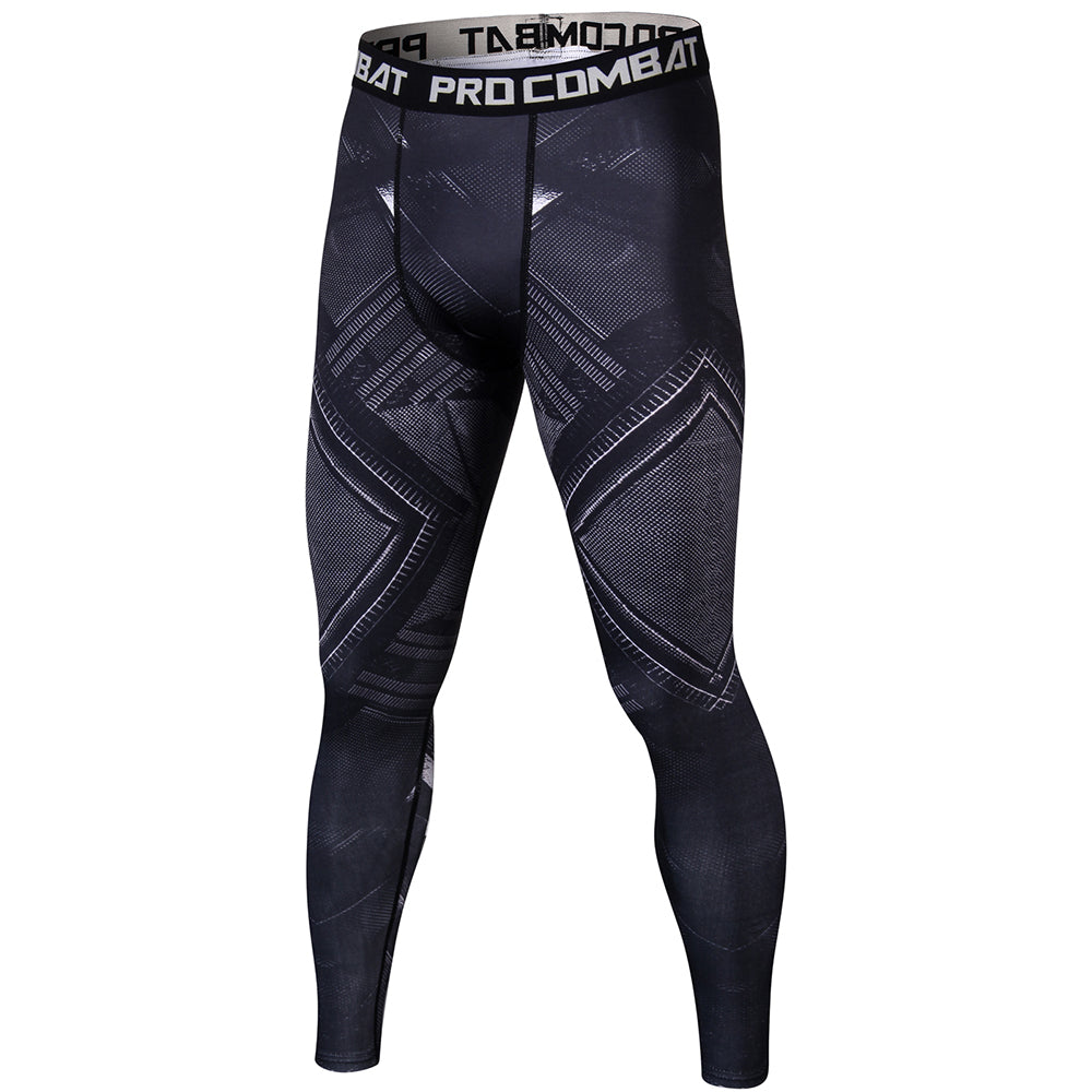 New Men compression Skin tights Leggings Crossfit Bodybuilding male Bottom MMA trousers fitness pants