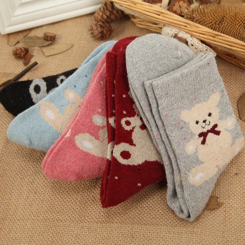 Women's Autumn Winter Wool Blend Socks