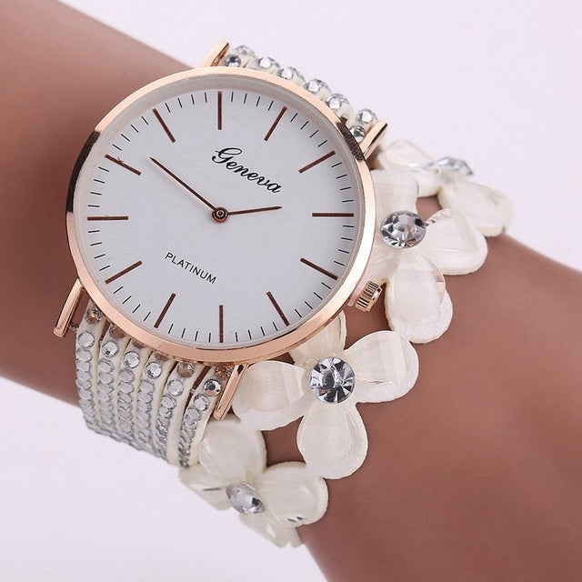 Fashion Geneva Creative Watches Women Casual Elegant Quartz Bracelet ladies Watch Crystal Diamond Wrist Watch Gift Reloj Mujer