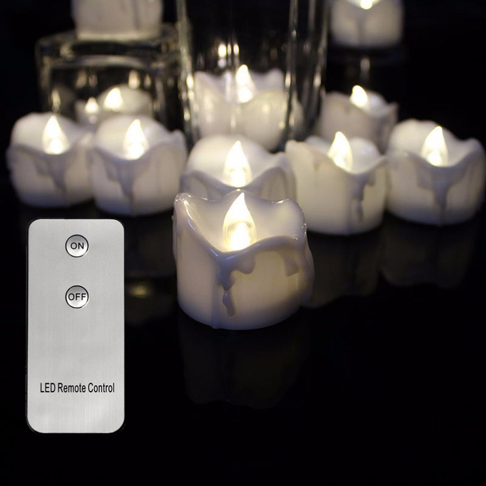 Candles Accesories Overhalfsale Led Candle Flicker Circuit Pack Of 6 Remote Warm White Flickering Battery Operated Tealights Candleselectronic Flameless
