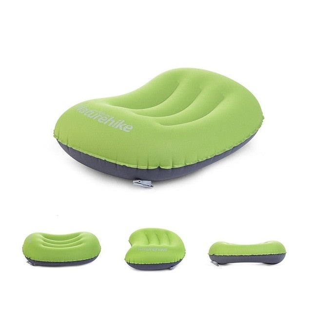 Inflatable Camper Air Pillow with Carry Case