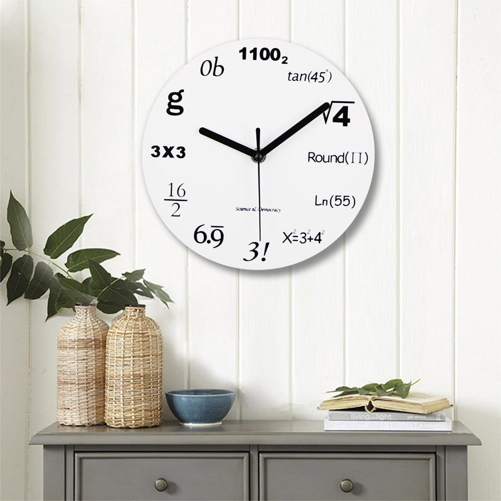 Fashion Acrylic Wall Clock Modern Design Novelty Maths Equation Clock Horloge Art Wall Watch Relogio De Parede Home Decor