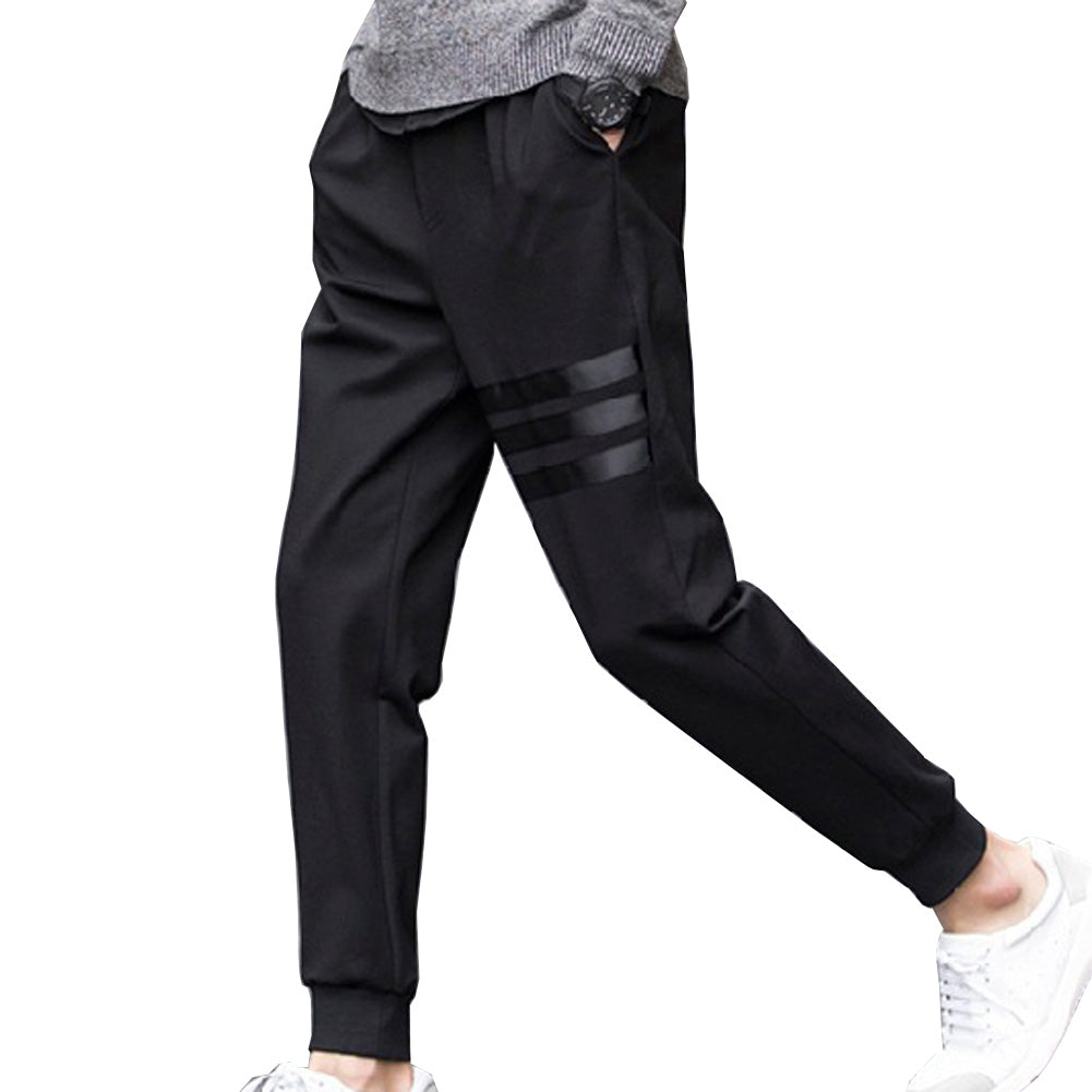 Breathable | Straight | Skinny | Casual | Stripe | Pant | Men
