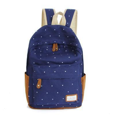 Fashion Candy Color Canvas Casual School Backpacks