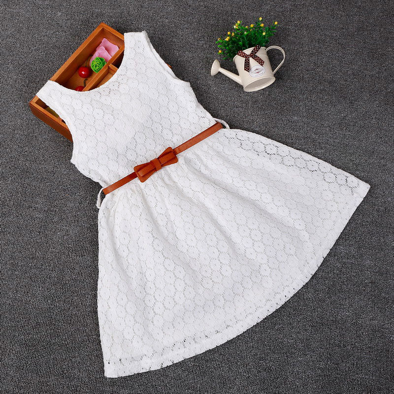 Dresses Children Baby Kids Girls Clothes Lace Hollow Out Sleeveless Cool Princess Summer Dress Clothes Kid 2 3 4 5 6 7 Years New