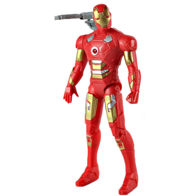 18CM The avengers Super Heroes Thor Captain America Spider man iron Man PVC Action Figure Model Toy With Light Best Gifts Toys