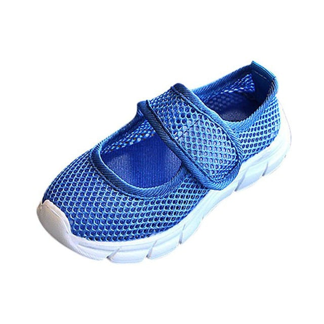 WEIXINBUY Children Canvas Casual Shoes Summer Fashion Candy Breathable Mesh Kids Sports Boys Girls Sneakers 6 Colors 2-11Y