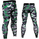 Men Compression Pants Tights Casual Bodybuilding Male Trousers Brand Camouflage Army Green Skinny Leggings