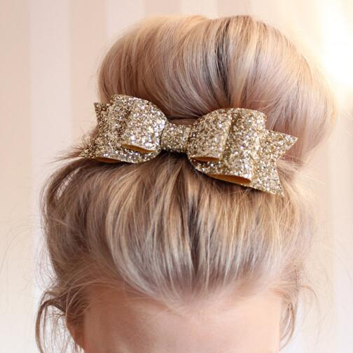 Retal Hair Clip Women Baby Girl 12CM Big Glitter Hair Bow Kids Hairpins Hair Clip For Children Hair Accessories Toddler Headwear