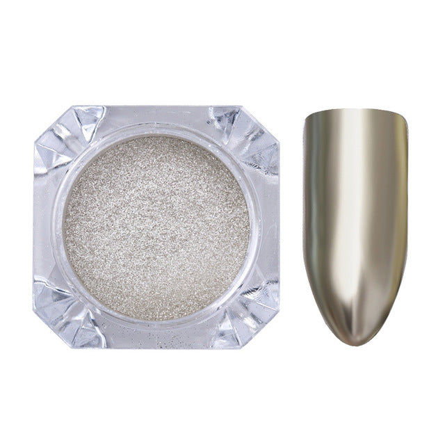 Rose Gold Mirror Nail Glitter Powder Gel Polish Chrome Pigment Dust Shinning Glitters Manicure Nail Art Decorations