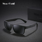 POLARKING Brand Polarized Sunglasses For Men Wayfarer Oculos de sol Men's Fashion Square Driving Eyewear Travel Sun Glasses