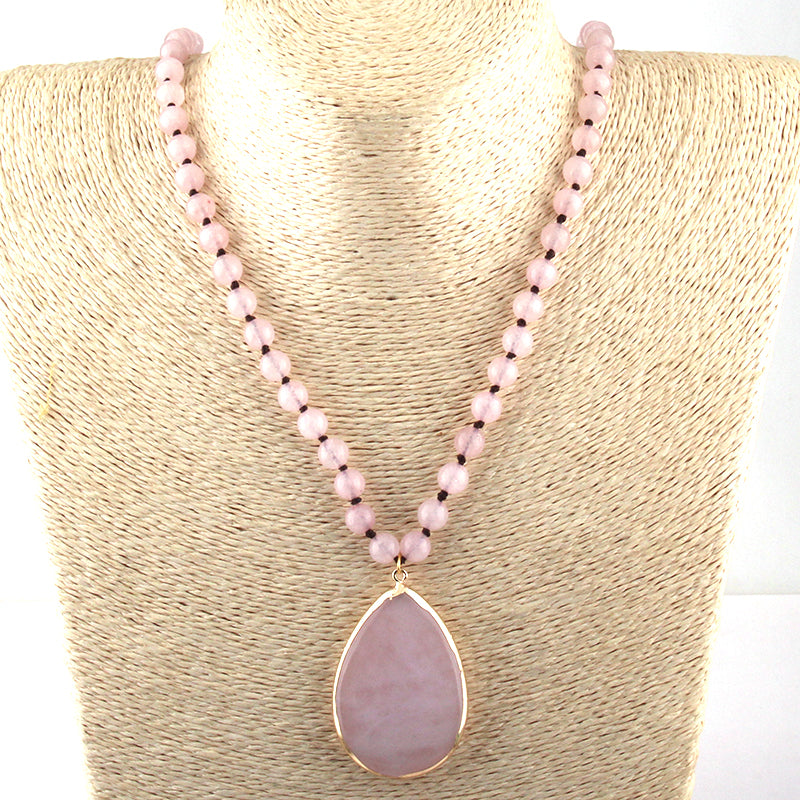 Women's Fashion Bohemian Natural Stone Pendant Necklace