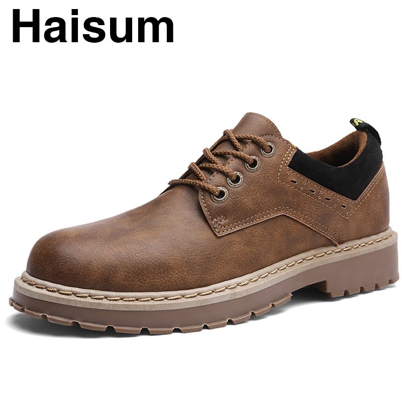 spring new men's casual shoes retro British style trend men's boots