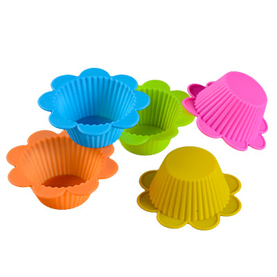 12 Piece: Silicone Nonstick Heat Resistant Reusable Cupcake Molds