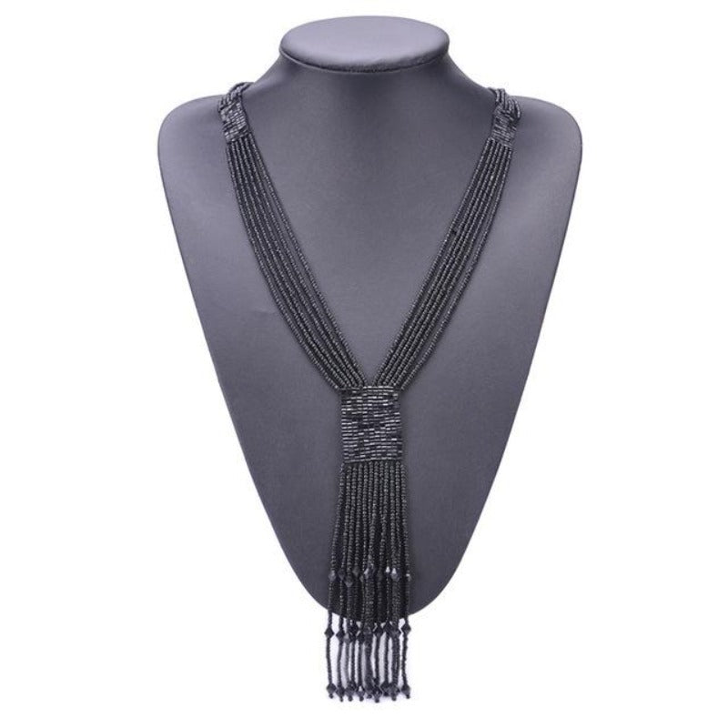 Women's Long Bohemian Tassel Necklace
