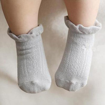 1 Pair: Infant Spring Anti-Slip Cotton Socks