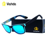VIAHDA New Rivet Polarized Sunglasses Men Sun Glasses Brand Classic Polaroid Lens Vintage Shades Oculos Male