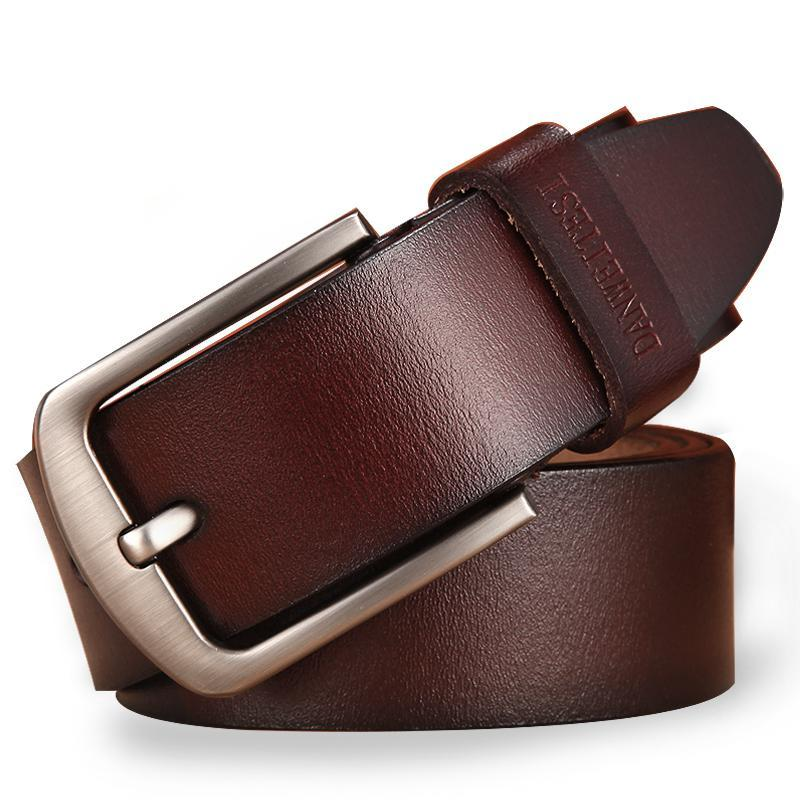 Men's Classic Leather Pin Buckle Belt - Was: $89.99 Now: $23.99  - Free Shipping.
