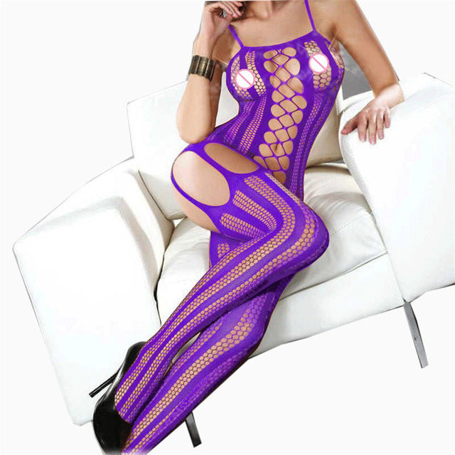 Sleepwear Lingerie   Babydoll Bodysuits Women Lenceria   Open Crotch Bodystockings   Underwear Plus Size