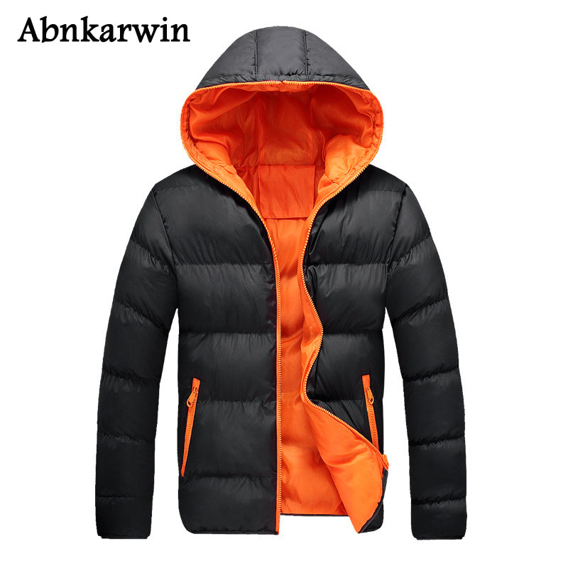 Abnkarwin Winter Casual Hoodie Men Women Love Cotton Coat Thick Classic Warm Homme's Parka Hooded Outwear Fit Plus Size