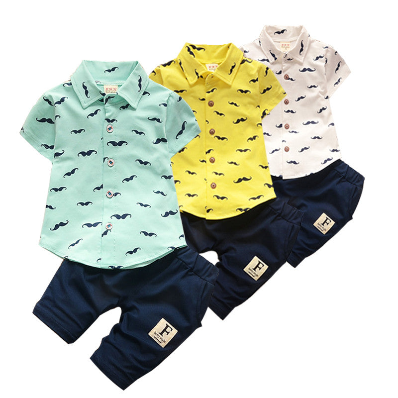 Baby Boys Clothes Toddler Cotton Baby Children Clothing sets Casual kids sport suits Infant T-shirt+Pants 2Pcs Boy Gentleman set