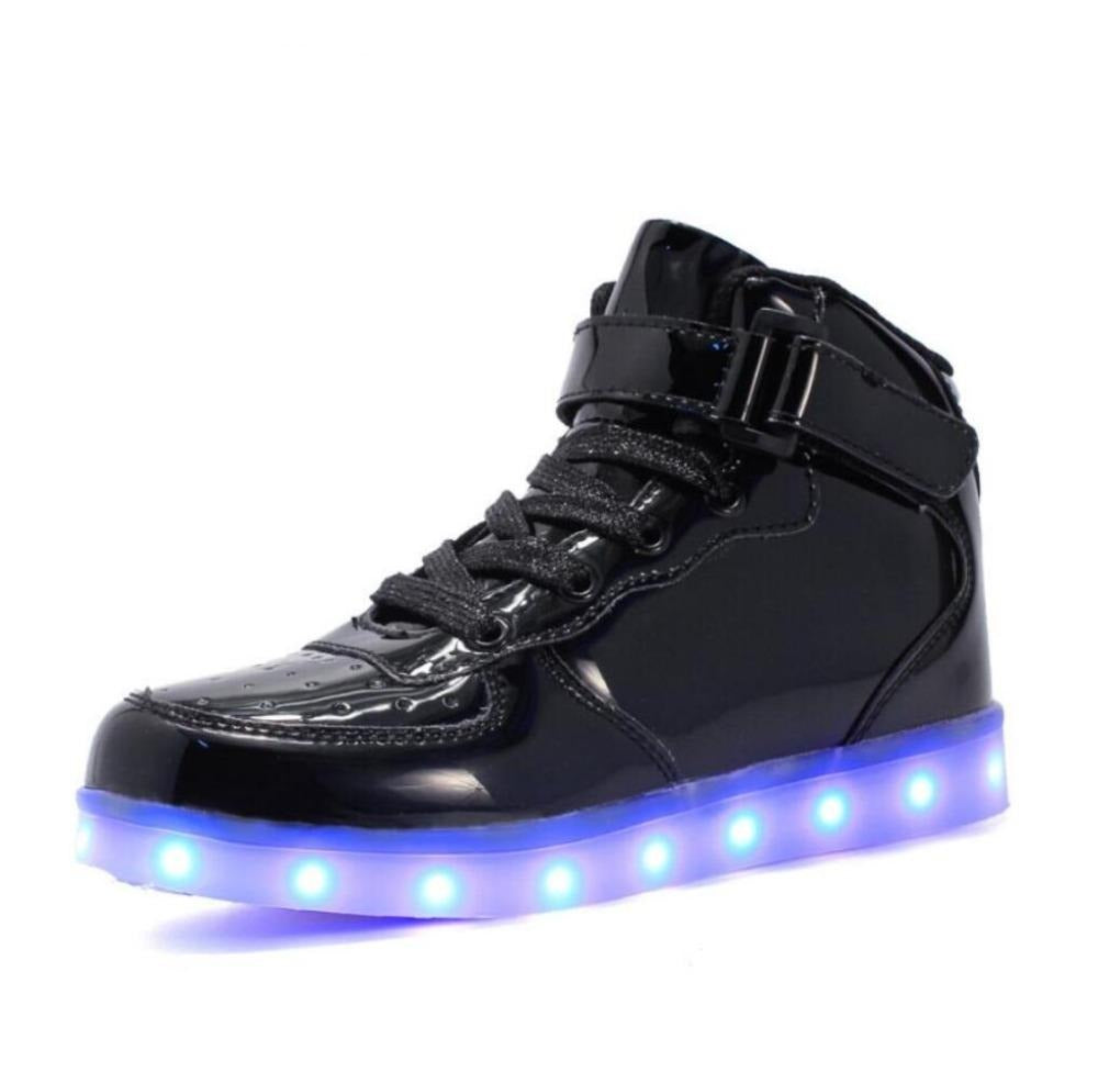 Led Shoes for kids and adults USB charger Light Up Air force for boys
