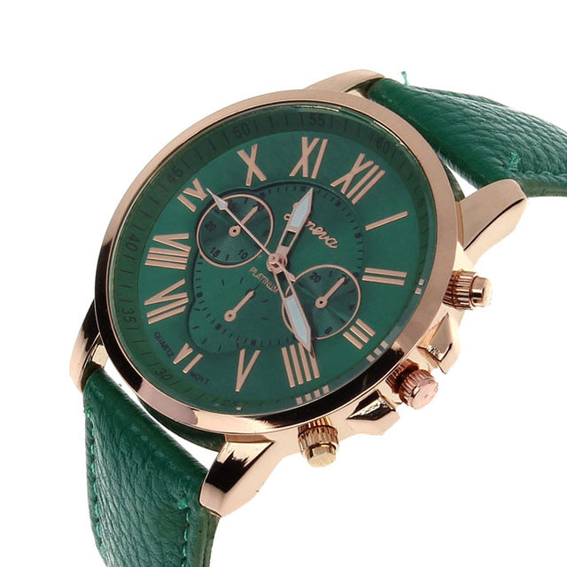 Women's Retro Design Leather Business Wrist Watch