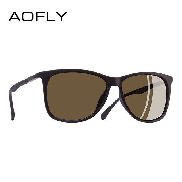 AOFLY BRAND DESIGN Classic Polarized Sunglasses Men Driving TR90 Ultralight Sunglasses Men's Goggles UV400 Gafas AF8085