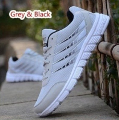 Men's Shoes Male Mesh Breathable Lightweight Running Shoes Lace Up Sport Sneakers Size 39-46 Outdoor Athletic Comfortable Shoes